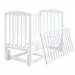 Кроватка-маятник универсальный Malika Lilu-5 цвет: белый