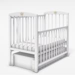 Кроватка-маятник универсальный+ящик Malika Lilu-6 цвет: белый