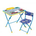 Комплект детской мебели стол+стул Nika Большие гонки КУ1/15
