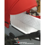 Коляска 2 в 1+переноска Ray Corsa, 6 цвет: серый/красный