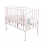 Кроватка-качалка детская ВДК Magico Mini Loft 3D-Star and Bear цвет: слоновая кость