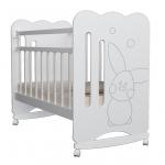 Кроватка-качалка ВДК Sweet Rabbit цвет: белый