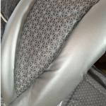 Коляска-трансформер Adamex Young цвет: серый лен/снежинки/серебристая кожа