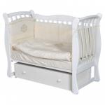 Кроватка-маятник универсальный+ящик Антел Luiza-3 цвет: белый