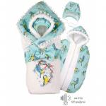 Комплект на выписку BabyGlory Зимняя сказка (зима) K0053 цвет: ментоловый
