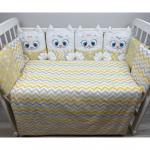 Комплект в кроватку Евротек, Дружные котята, 3 предмета, 80342 цвет: бежевый