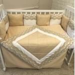 Комплект в кроватку Евротек, LuBaby, 4 предмета, 60401 цвет: бежевый