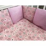 Комплект в кроватку Евротек, Мишка Индеец 6 предметов, 80364 цвет: розовый