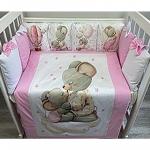Комплект в кроватку Евротек, Мышонок, 6 предметов, 80220 цвет: розовый