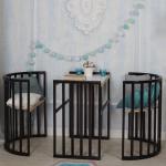 Кровать детская Incanto Mimi 7в1 круг-овал с накладкой ПВХ цвет: венге