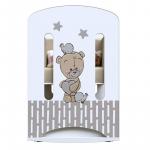 Кроватка-качалка+маятник ВДК Love me цвет: белый