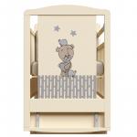 Кроватка-маятник+ящик ВДК Love me цвет: слоновая кость