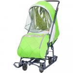Санки-коляска Наши детки 3 НДТ3/1 цвет: зеленый