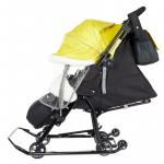 Санки-коляска Ника Детям 7-5K НД7-5K цвет: черный/золотой