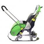 Санки-коляска Ника Детям 7 НД7 цвет: лимонный/тигренок