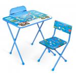 Комплект детской мебели стол+стул Nika Познайка: Большие гонки КП2/БГ