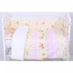 Комплект в кроватку Топотушки Дружная Семейка, 6 предметов, 641/2 цвет: розовый