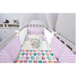 Комплект в кроватку Топотушки Котенок с зайчонком, 6 предметов, 630