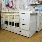 Кроватка-трансформер Топотушки Лаура (45), маятник цвет: белый