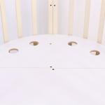 Кроватка-трансформер овальная 7 в 1 Топотушки Селена (67) цвет: слоновая кость