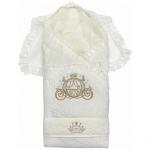 Конверт-одеяло на выписку для новорожденного Сказка Арт.124-З цвет: бежевый