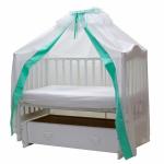 Балдахин для детской кроватки Классик (111/7 Бирюзовый)