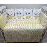 Комплект в кроватку Евротек, Дружные котята, 6 предметов, 80338 цвет: бежевый