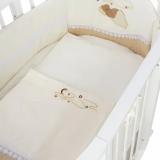 Комплект в кроватку Евротек, Мишка под одеялом, 3 предмета, 60153 цвет: бежевый
