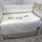 Комплект в кроватку Евротек, Сердечки, 3 предмета, 60100