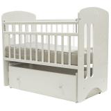 Кроватка-маятник+ящик Топотушки Каролина (40) цвет: белый