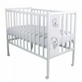 Кроватка-качалка детская ВДК Magico Mini Loft 3D - Teddy цвет: белый