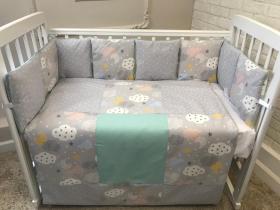 Комплект в кроватку Евротек,Cloud 6 предметов, 42015 цвет: серый