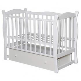 Кроватка-маятник Антел Северянка-2 цвет: белый