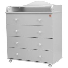 Пеленальный комод 4 ящика Топотушки Артемка ЛДСП 800/4 цвет: белый