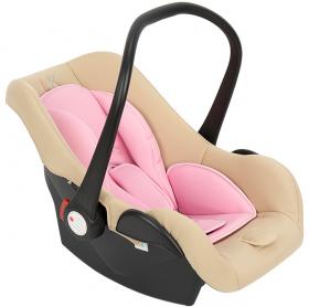 Автокресло Leader Kids Baby Leader Comfort II группа 0+ (0-13 кг) цвет: бежевый/розовый
