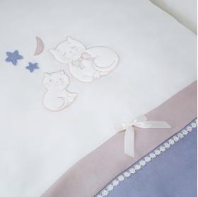 Комплект в кроватку Perina Котята 6 предметов КТ6-01.4 цвет: лазурь