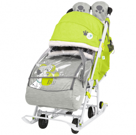 Санки-коляска Disney baby 2 DB2 цвет: лимонный/далматинец
