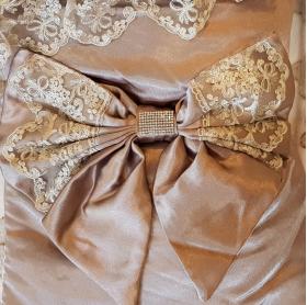 Конверт-Одеяло на выписку, кружево, бант цвет: чайная роза