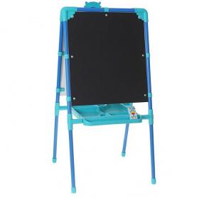 Фото: Мольберт двухсторонний с магнитной азбукой М1 цвет: голубой