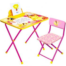Фото: Комплект детской мебели стол+стул Nika Disney-1 Белль Д4Б