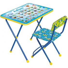 Фото: Комплект детской мебели стол+стул Nika Познайка Азбука КП2/9