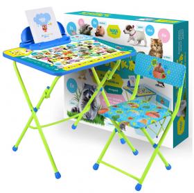 Комплект детской мебели стол+стул Nika Пушистая азбука КУ2/ПА