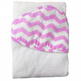 Фото: Полотенце с уголком Топотушки М5-1 100х80 цвет: розовый/зигзаг
