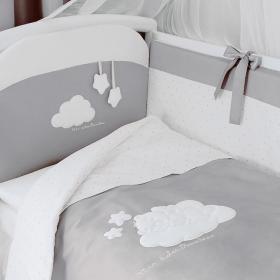 Комплект в кроватку Perina Бамбино 6 предметов (Серый) арт. ББ6-01.2 (Олива) арт. ББ6-01.2