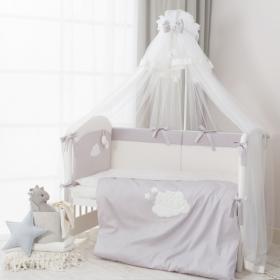 Комплект в кроватку Perina Бамбино 6 предметов (Серый) арт. ББ6-01.2