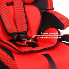 Автокресло Siger Стар Isofix группа 1/2/3 (от 9 до 36 кг) Красный