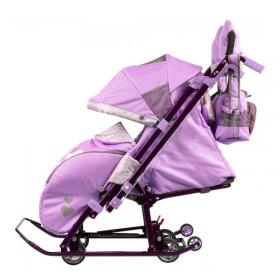 Санки-коляска Ника Детям 7-4/1 цвет: Лиловый