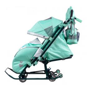 Санки-коляска Ника Детям 7-4/2 цвет: Мятный