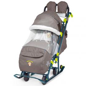 Санки-коляска Ника-Детям 7-3 цвет: коричневый