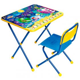 Комплект детской мебели стол+стул Nika Познайка: Математика в космосе КП/8